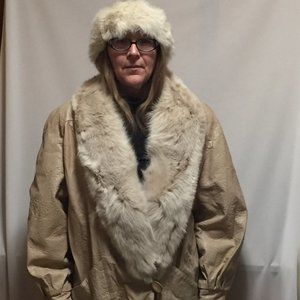 Vintage Fur and Leather Coat from Marvin Richards